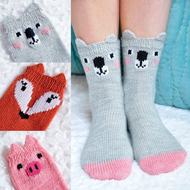 Strickmuster für Socken mit einzigartigem Design