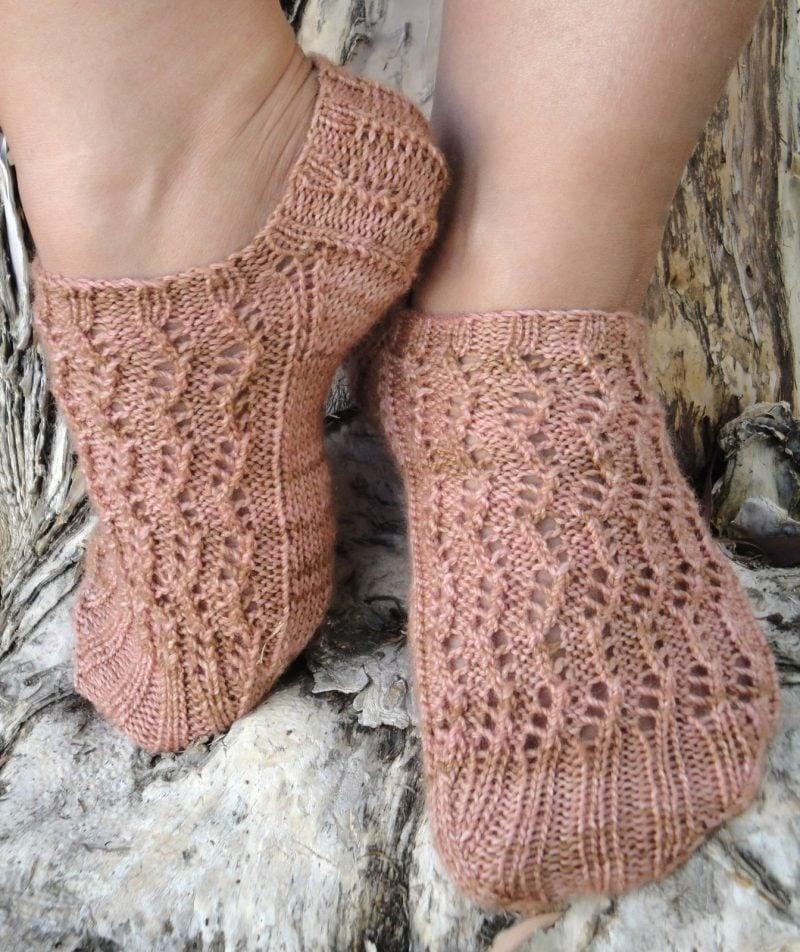 Strickmuster für Socken: Kurze Socken
