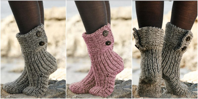 Strickmuster für Socken: Muster für Home Socken