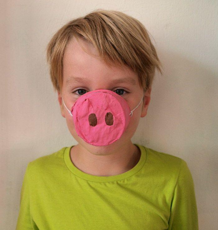 lustige tiermasken basteln wie ein schwein