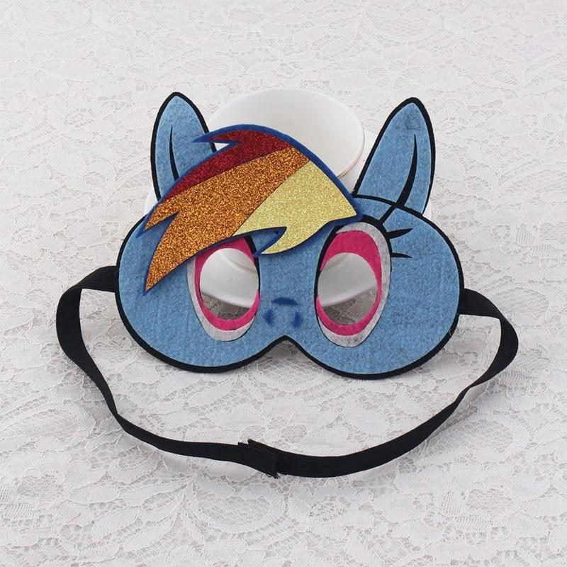 süße tiermasken basteln in blauer farbe mit lustiger glitter verzierung