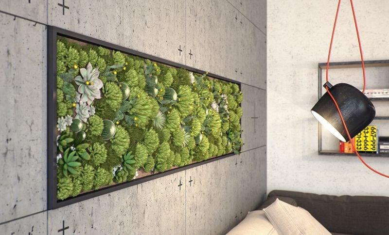 Beleuchten Sie den vertikalen Garten