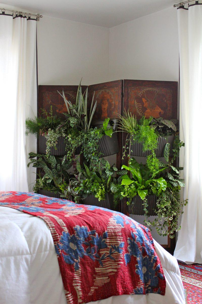 Vertikaler Garten für Schlafzimmer