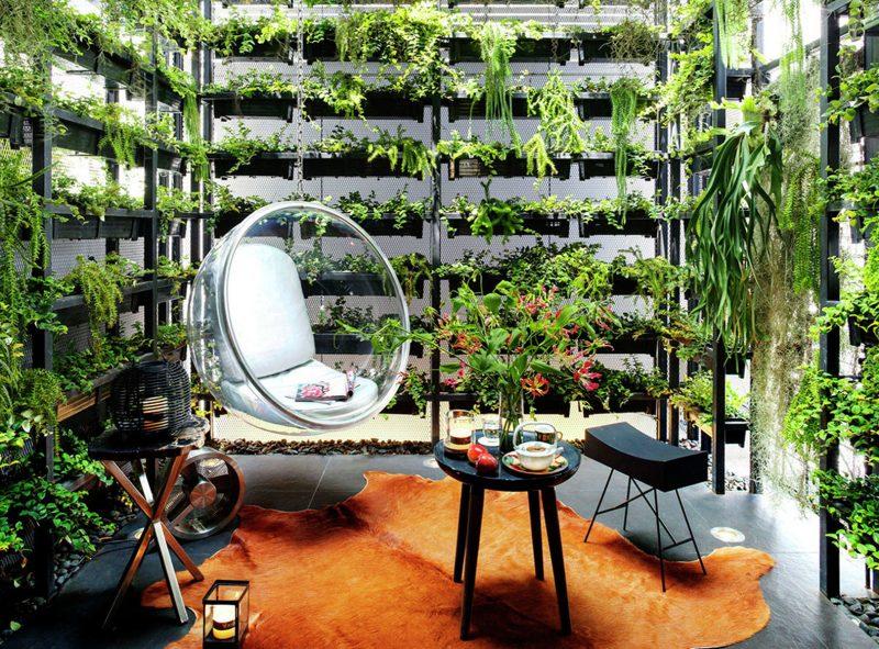 Vertikaler Garten für das perfekte Erholungsbereich