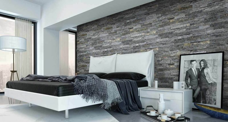der neue trend 41 ideen f r wandpaneele mit steinoptik. Black Bedroom Furniture Sets. Home Design Ideas