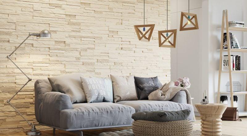 Wandpaneele mit Steinoptik für die ganze Wand