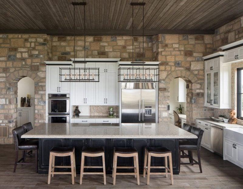 Wandpaneele mit Steinoptik für die ganze Küche