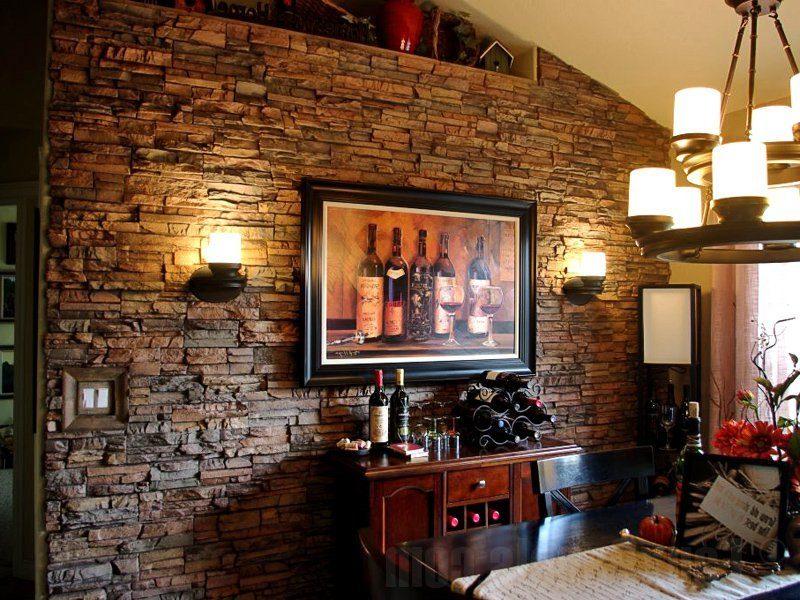 Schaffen Sie Landhausstil mit Wandpaneele mit Steinoptik