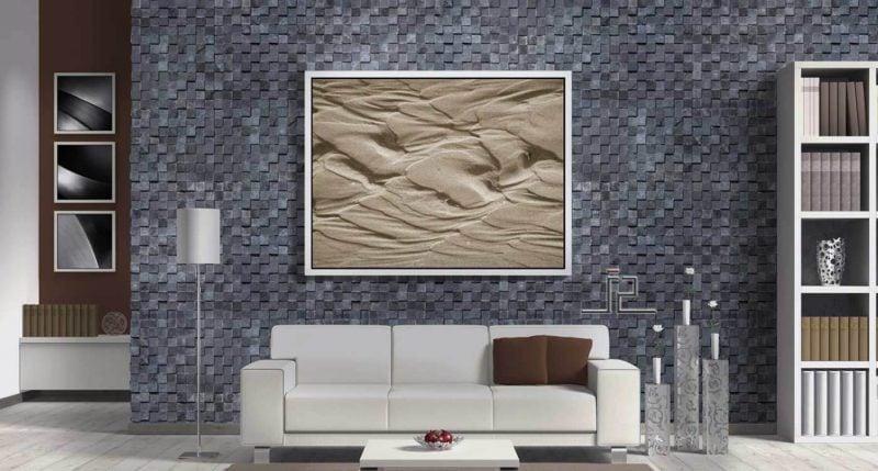 Wandpaneele mit Steinoptik in Grau