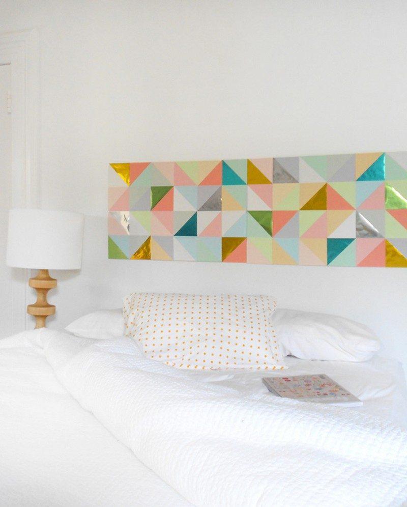Wandtattoo selber machen: Idee für Schlafzimmer
