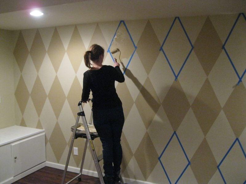 Wandtattoo selber machen: Wandmalerei
