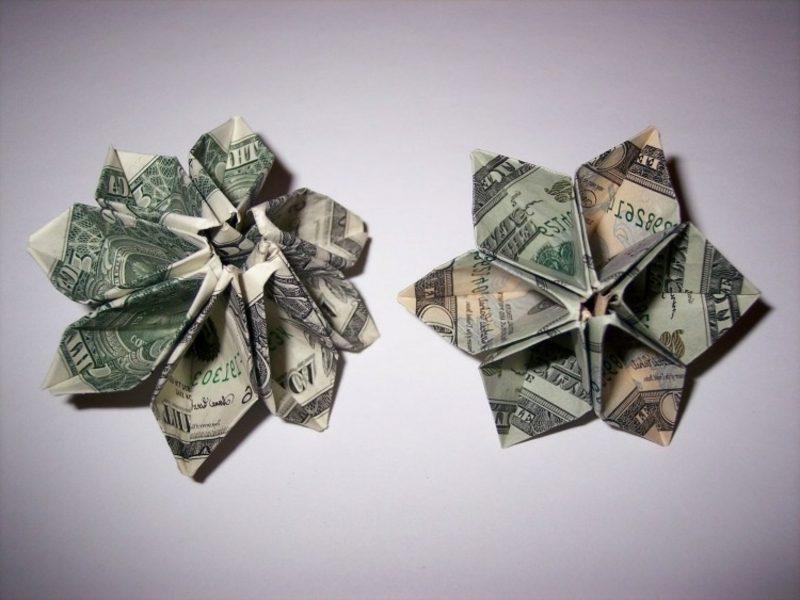 originelle Geldschein Blumen