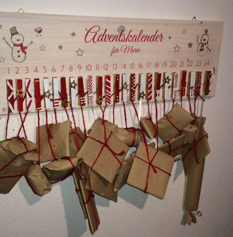 Adventskalender selber gestalten kleine Geschenke