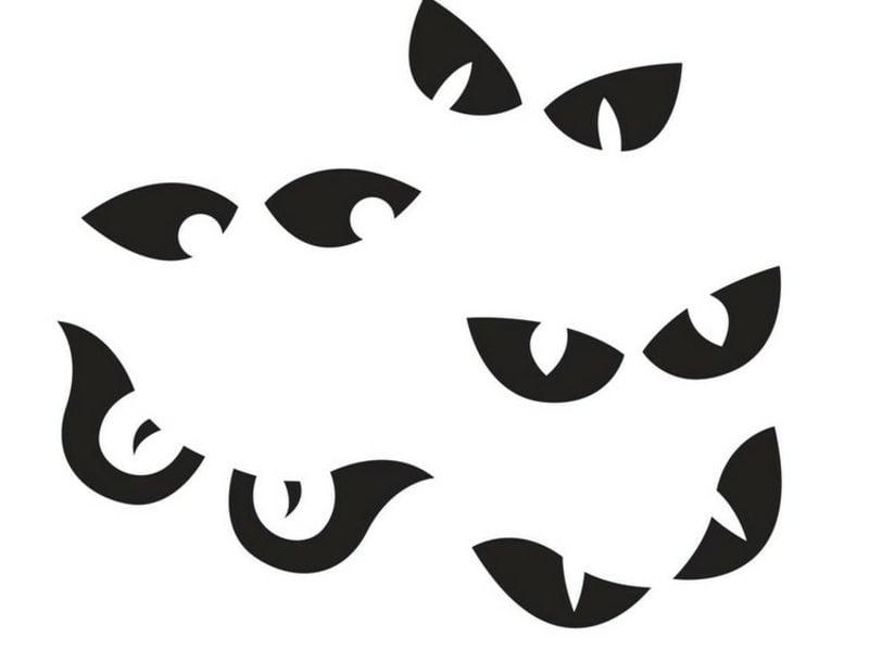 Halloween Kürbis Schnitzvorlagen Augen