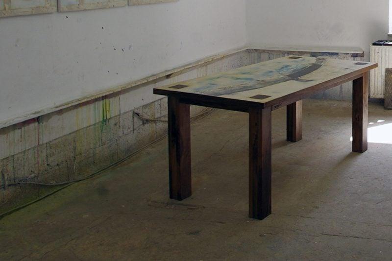 Holztisch klassischer Look rechteckig