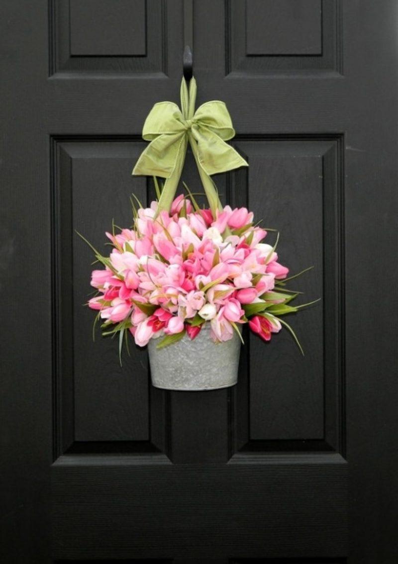 Dekoideen Frühling Blumentopf Tulpen