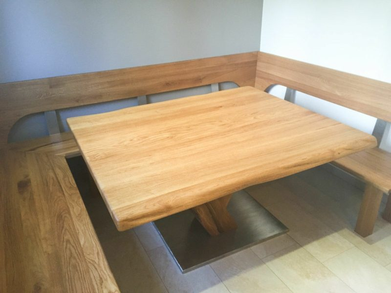 klassische Eckbank aus Holz kreative Ideen DIY