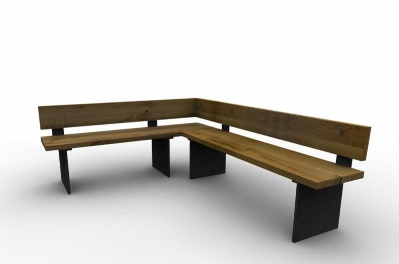DIY Ideen lange Eckbank aus Holz