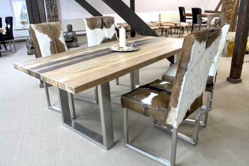 Esstisch aus Massivholz modernes Design