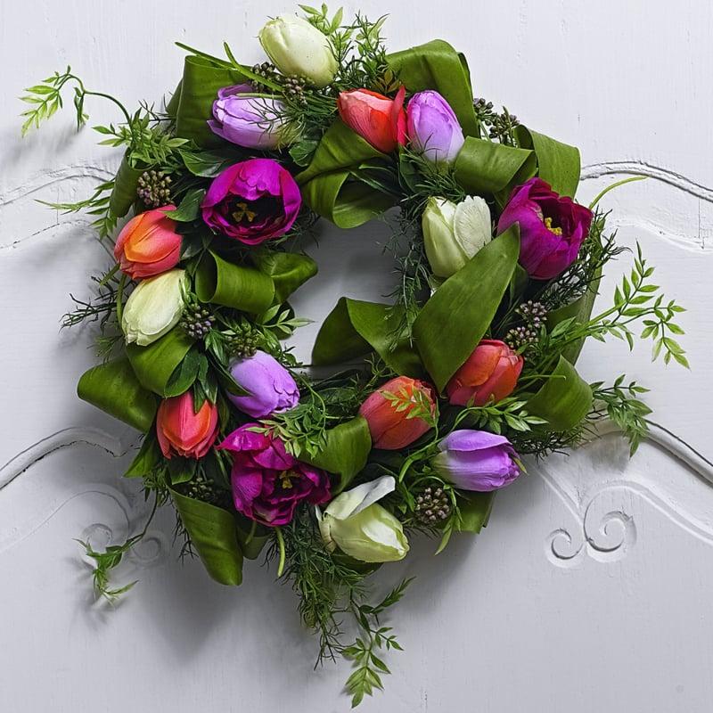 Blumenel Selber Machen frühlingsbasteln einen türkranz aus bunten blumen selber machen