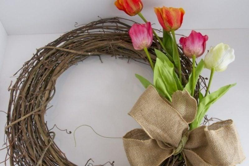 DIY Kranz Frühlingsblumen