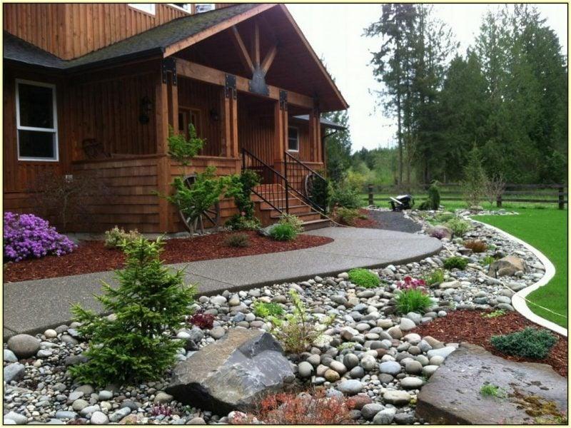 Gartengestaltung mit Steinen ist ideal für Gartenweg