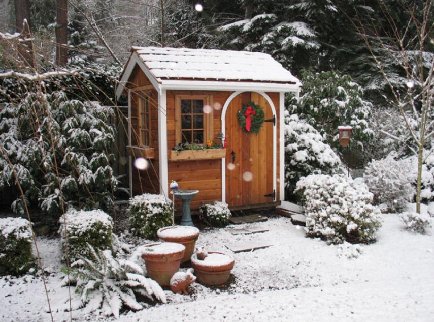 Gartenhütten für die Gartenarbeit im Winter