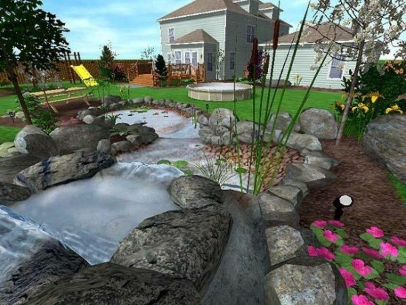 3D Gartenplaner realistische Darstellung