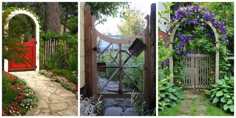 Gartentor selber bauen diy anleitung und 45 einzigartige for Diy garden gate designs