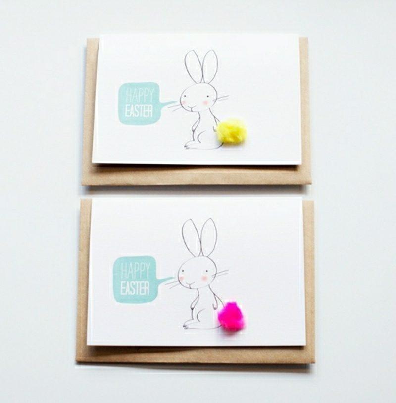 Grusskarte zum Ostern mit Hasenmuster