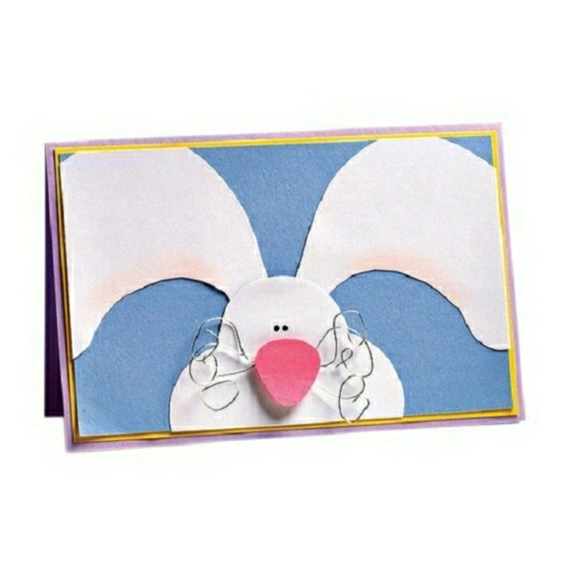 lustige Grusskarte Ostern Hasenmuster