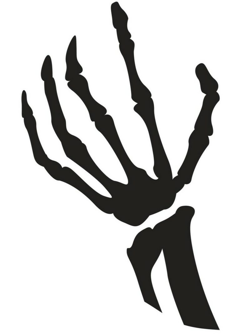 Halloween Kürbis Schnitzvorlagen Hand Knochen