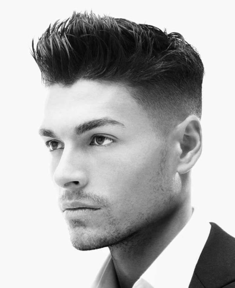 elegante Fade Frisur Herren kurze Haare