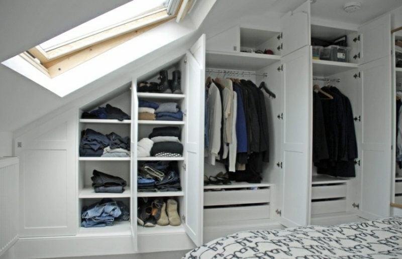 Kleiderschrank begehbar klassisch Dachschräge
