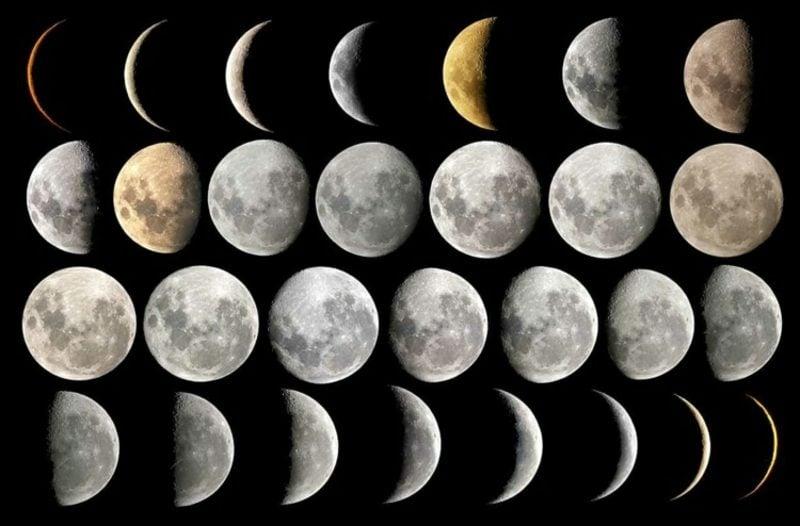 Mondphasen unterschiedlich Haarschneiden