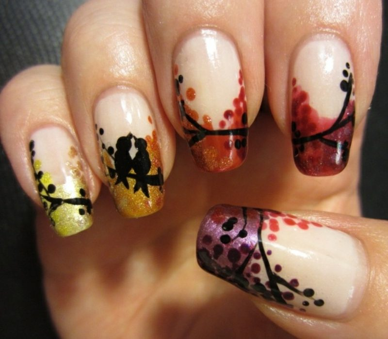 originelles Nageldesign Herbst