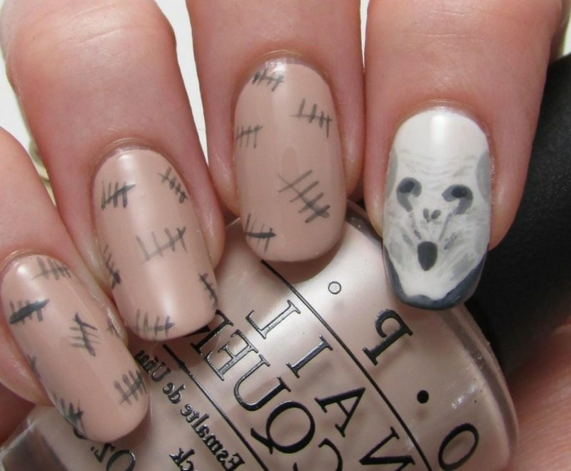 interessante Nageldesign Muster zu Halloween