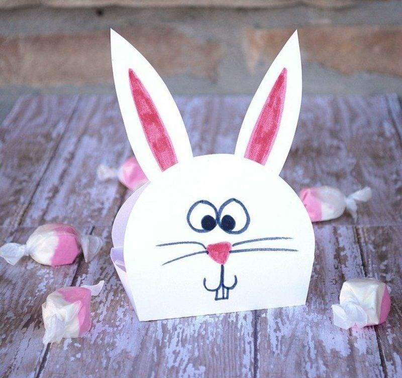 lustige Osterhasen basteln kreative Ideen zum Ostern