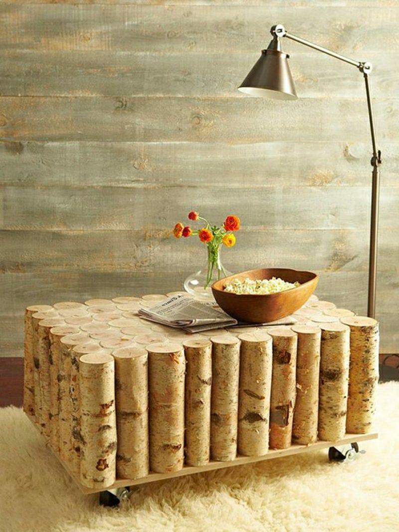 DIY Holztisch Baumstamm