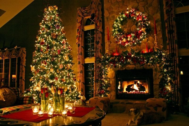 festlich geschmückter Weihnachtsbaum zauberhafter Look