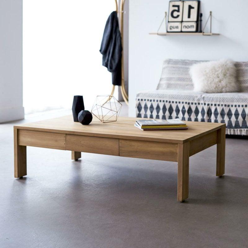 dekorativer Wohnzimmertisch Holz