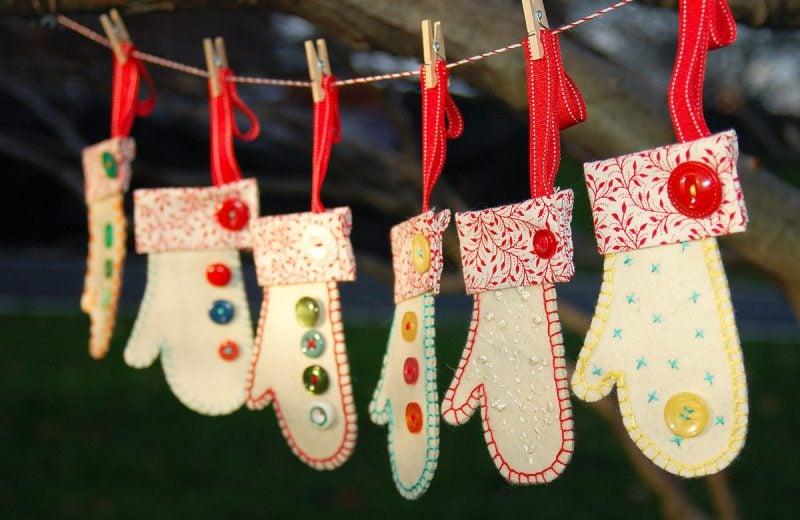 Adventskalender nähen Handschuhe