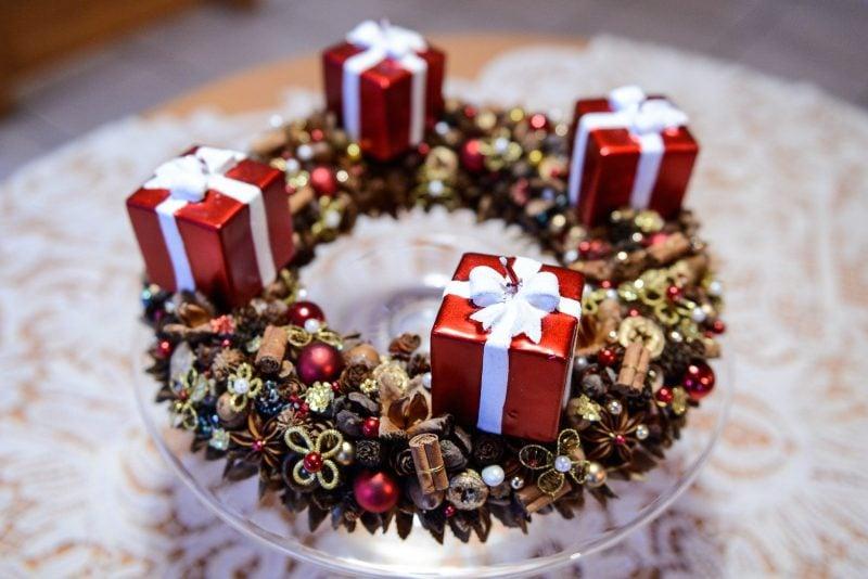 Adventskranz bestellen - Kerzen in anderer Form