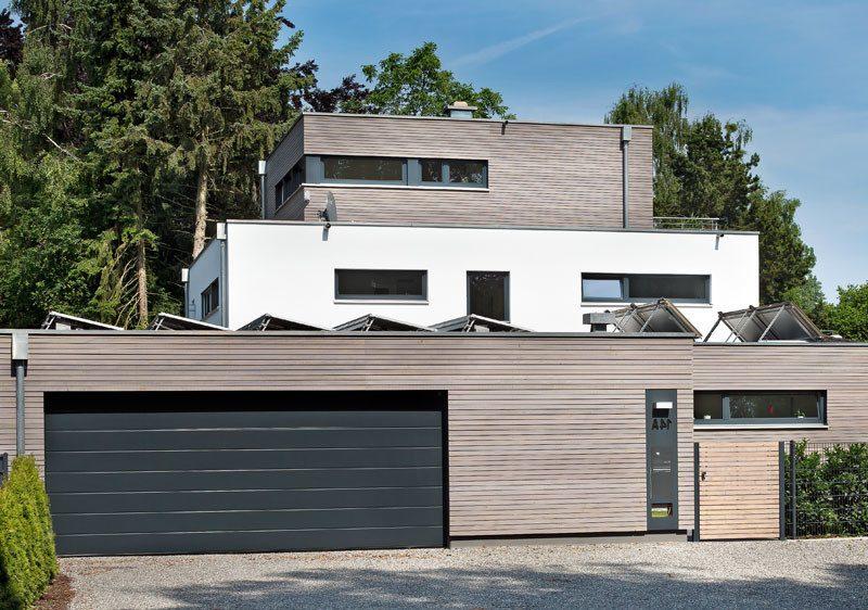 Architektenhäuser mit moderner Fassade