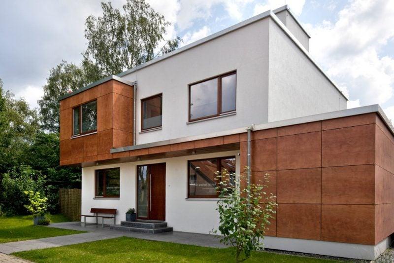 Architektenhäuser mit modernen Holzrahmen