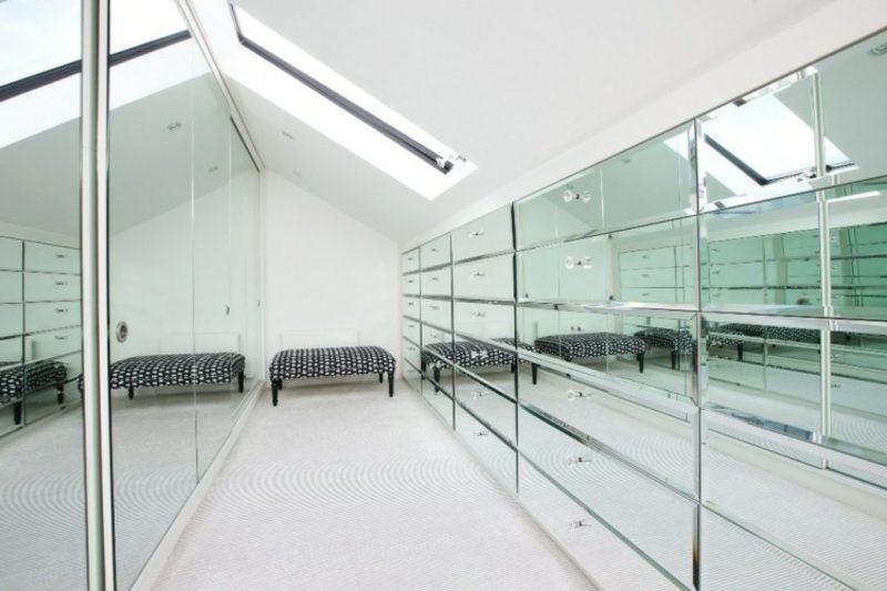 Schranksysteme Dachschr Ge wohnzimmer dekoration silber