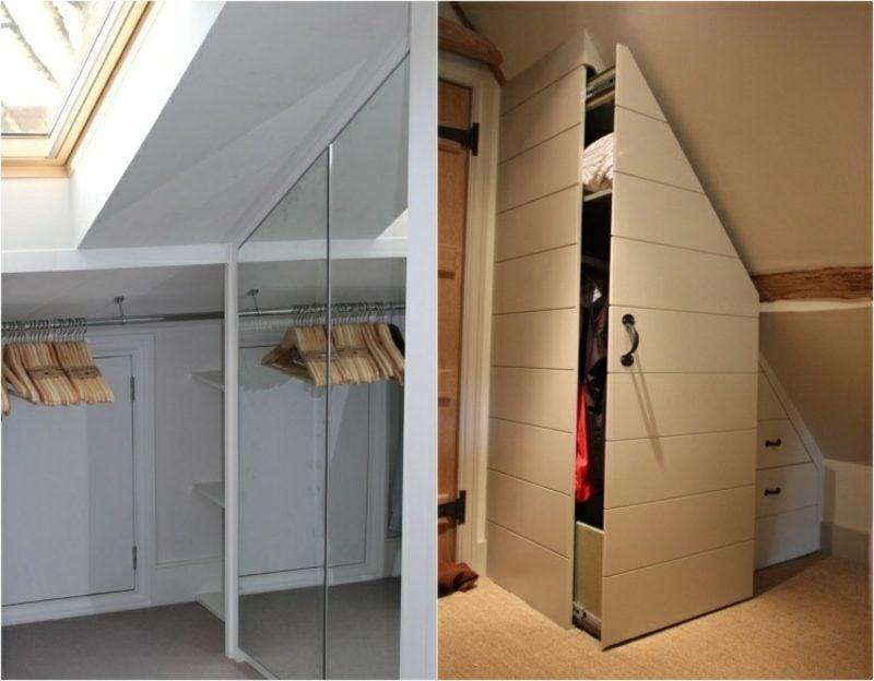 begehbarer Kleiderschrank unter Dachschräge Varianten