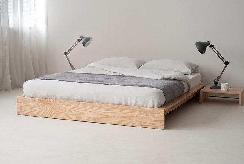 Awesome Bett Ohne Kopfteil Aus Massivholz With Kopfteile Fr Betten
