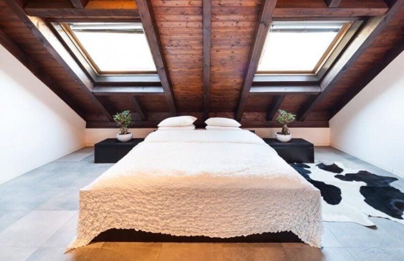 Bett ohne Kopfteil Dachschraegen