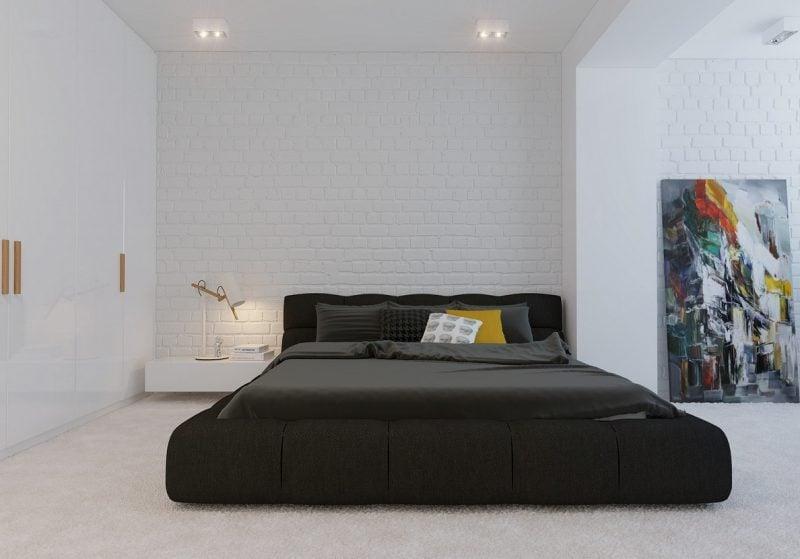 Bett ohne Kopfteil Design Idee
